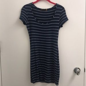 Saint Grace Navy Stripe Dress